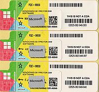 Microsoft Windows 8.1 Professional 64-bit, RUS, лицензионная наклейка, OEM-версия (FQC-06930) new