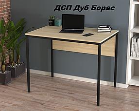 Письменный стол L-2p mini металл Черный матовый ДСП Дуб Борас (Loft Design TM)