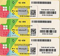 Microsoft Windows 7 Professional 64-bit, украинская, лицензионная наклейка, OEM-версия (FQC-08706) X20