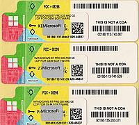 Microsoft Windows 7 Professional 32-bit, RUS, лицензионная наклейка, OEM-версия (FQC-08296) X20