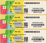 Microsoft Windows 10 Home 64-bit, RUS, лицензионная наклейка (KW9-00132) new