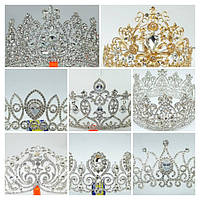 Круглые высокие короны и нежные эксклюзивные комплекты бижутерии. Свадебная бижутерия оптом в Украине.