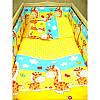 Набор постельного белья в детскую кроватку из 4 предметов Жирафики желтый