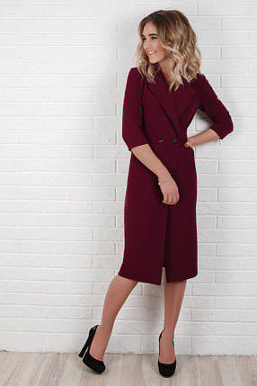 """Офисное миди-платье на запах """"Мэриел"""" с карманами (3 цвета), фото 2"""