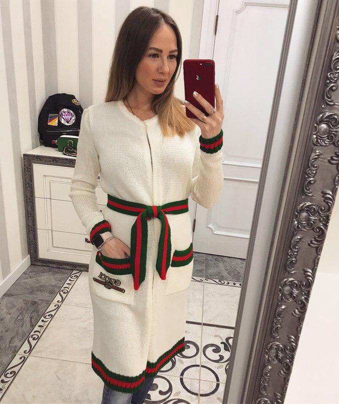 Женский кардиган декорир под Гуччи реплика