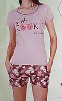 Пижама женская шорты и футболка, фото 1