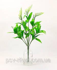 Нога 9 голов с листвой размер 60 см