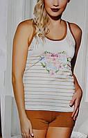 Пижама женская шорты и майка