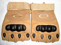 Перчатки тактические короткопалые,бежевые, фото 1