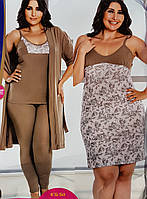 Женский халат пижама и ночнушка большого размера, фото 1