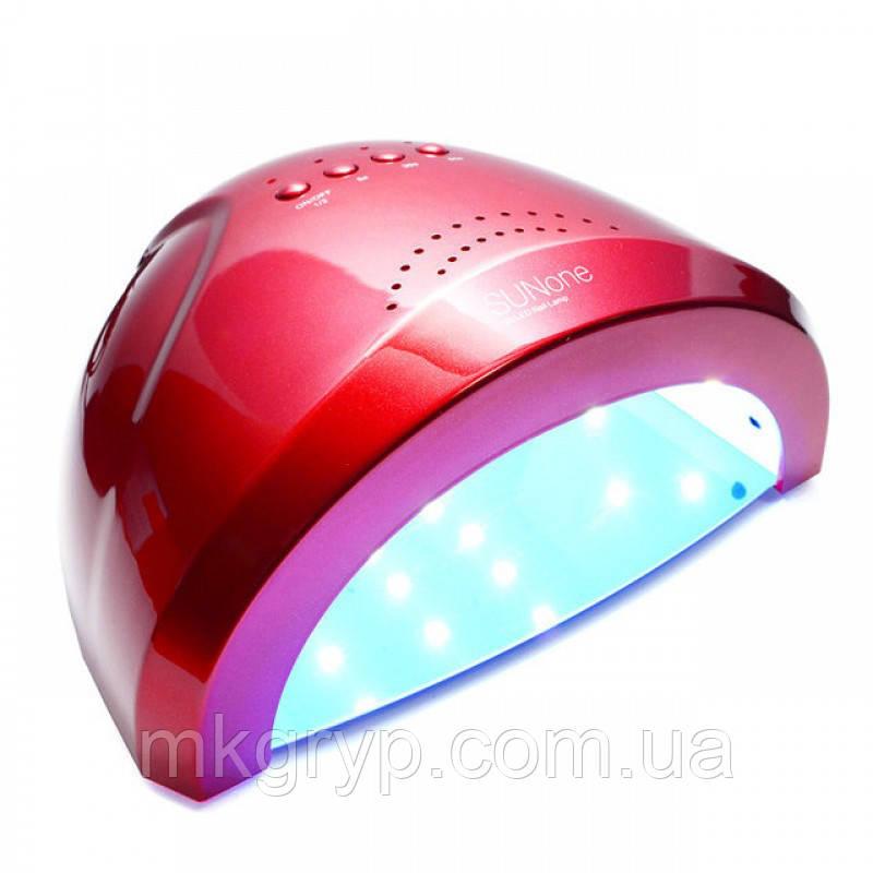 Гібридна світлодіодна UV/LED лампа SunOne 48 Вт. Червона