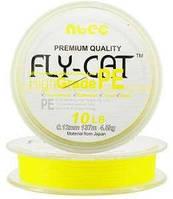 Шнур плетеный NTEC Fly Cat YELLOW (желтый) 135 m