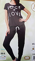 Пижама женская штаны и фудболка