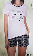 Пижама женская шорты и футболка