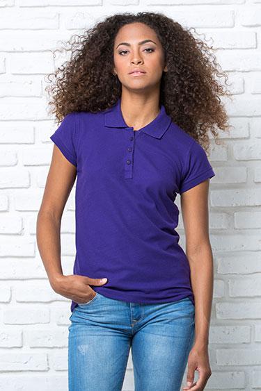Футболка  поло женская под печать JHK T-shirt Popol200