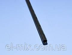 Термоусаживаемая трубка с клеем 3,2/1,0мм (3-х) тонкостенная W-1SB  WOER черная, 1м