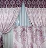 Две готовые двухцветные шторы из жаккарда.  150ш, фото 2