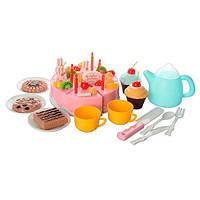 Супер модный игровой набор: тележка и продукты(сладости),посуда 60предметов 889-16A-15A