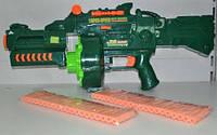 Детский пулемет 7002, стреляет мягкими пульками на батарейках