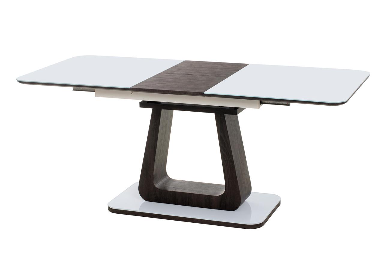 Стол МДФ+стекло ТМL-521 Белый+венге