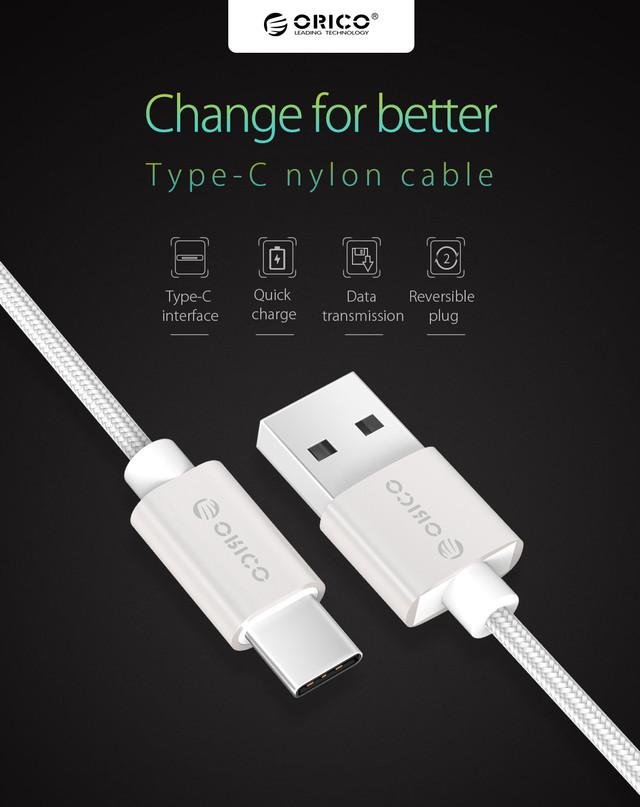 Кабель USB Type-C Orico HTF-10 для зарядки мобильных устройств и передачи данных