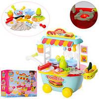 Разноцветная  детская тележка магазин-кухня, 34 предмета 889-93-94