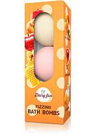 Шипящие ароматические шары для ванн DAIRY FUN, 3 * 100 г  Delia Cosmetics    Персик и Манго&Кармельное яблоко&Мед и Молоко