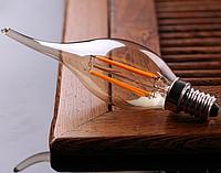 Светодиодная лампа прозрачная Filament 4Вт LM393 C35T 3000K  , фото 1