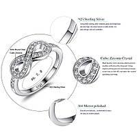 Серебряное кольцо Тиффани (бесконечность)100%КАЧЕСТВО!