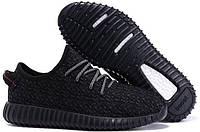 Adidas Yeezy Boost 350 Black Panter | кроссовки женские и мужские летние черные