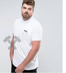 Мужское поло Puma белого цвета