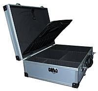 Кейс для инструмента алюминиевый с перегородками (455*330*152 мм)