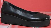 Туфли женские кожаные на платформе, кожаные туфли женские от производителя модель СТТ31
