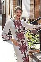 Платье с вышивкой, лен, фото 1