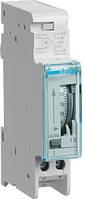 Таймер аналоговый, суточный,16А, 1НО, резерв хода 200 часов, 1м, Hager EH011