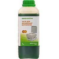 Жидкость для биотуалетов для верхнего бака Кемпинг 1 л (средство для биотуалета, химия, биопрепарат)