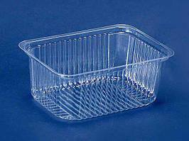 Одноразовый пластиковый контейнер для продуктов, ПС-160, 500мл, без крышки