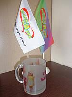 Стеклянная чашка с фото