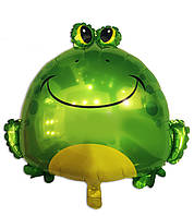 Фольгированный шар Лягушка большая 65 х 62 см.