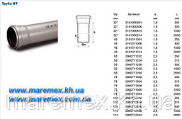 Труба ПВХ 110х2000 м.(толщ.2.6мм)