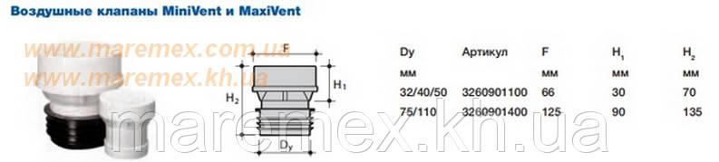 Клапан воздушный Mini Vent д.50