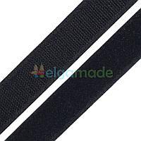 Липучка черная, 20 мм, 10 см