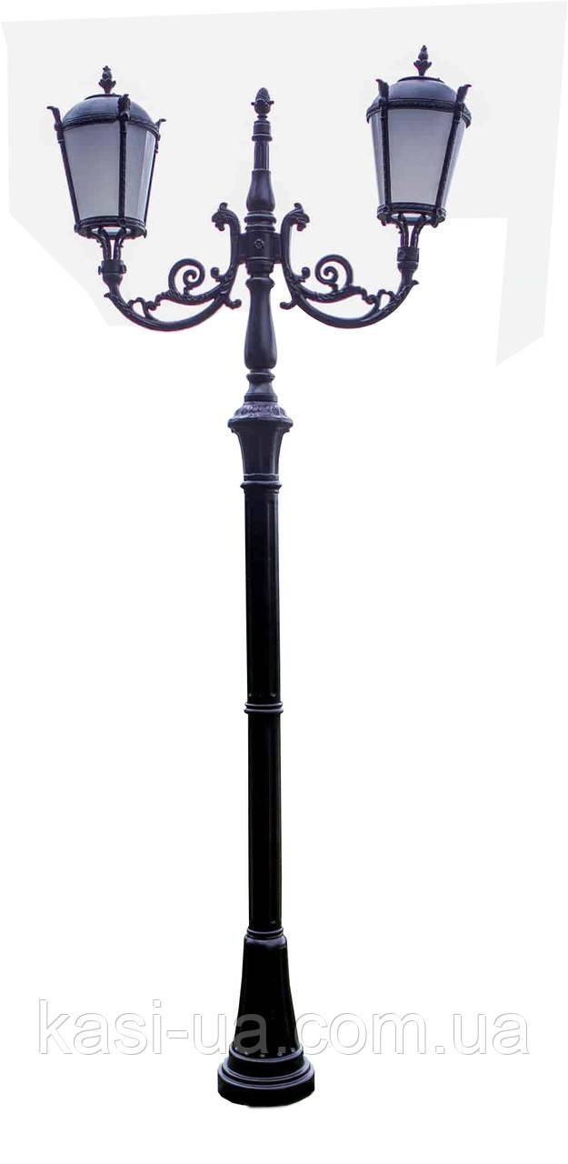 Чугунная опора (фонарь уличный) уличного освещения №3