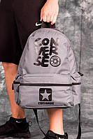 Стильный серый рюкзак converse