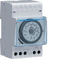 Таймер аналоговый, недельный,16А, 1НО, резерв хода 200 ч, 3м, Hager EH171