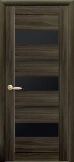 Дверное полотно Лилу с черным стеклом