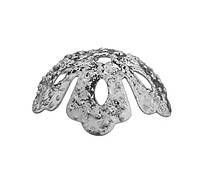 Обниматели (чашечки) для бусин Серебряные 13 мм 100 шт/уп, фото 1