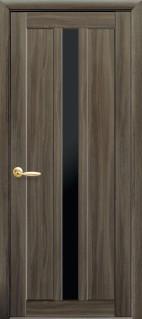 Дверное полотно Марти с черным стеклом