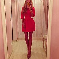 Платье КУКОЛКА красный