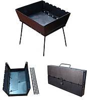 Складной мангал чемодан (6 шампуров) для похода и дачи